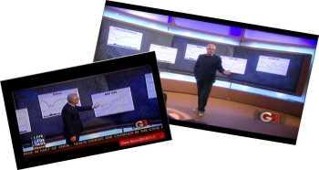 screenshots of featured analysis on Glenn Beck Program